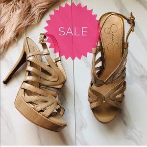 Jessica Simpson nude heels size 8.5
